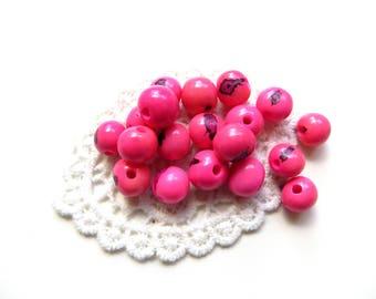 10 fuchsia pink acai seeds
