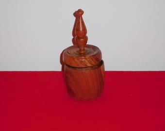 Lidded Cedar Knick-knack ring bowl