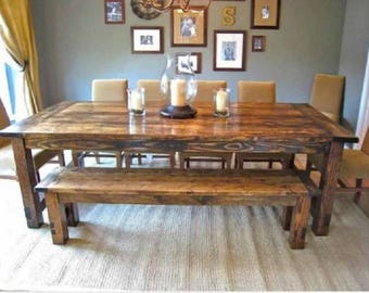 Good SALE Custom Farmhouse Tables, Farm Tables, Harvest Table