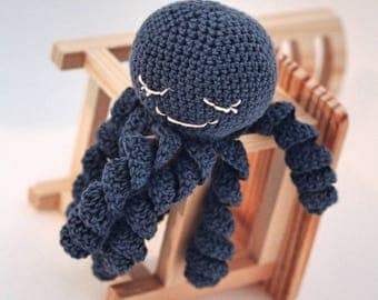 Amigurumi octopus, Blue Octopus, Crochet Octopus, Octopus Toy, Stuffed octopus, toy newborn