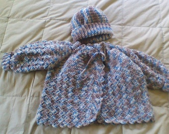 Baby boy sweater and hat