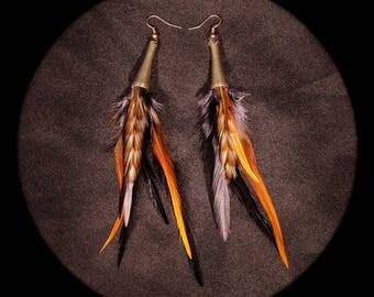 Feather Bohemian feather earrings