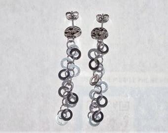 "Vintage Estate 14K White Gold Art Deco Drop/Dangle Earrings 4.02 Grams 2.25""."