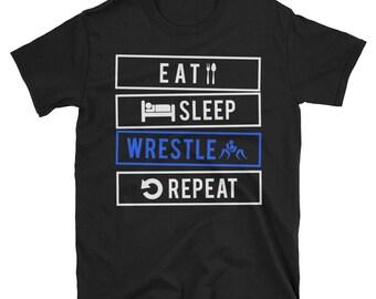 Eat Sleep Wrestle Repeat Shirt - Wrestling shirt - Wrestling - Wrestler shirt - Wrestling t shirt - Wrestling gift - Wrestler gifts - Eat Sl