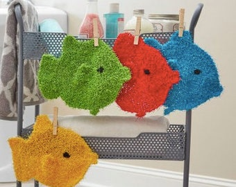 Fish Dish Scrubby, dish cloth, scratch pad, whimsical