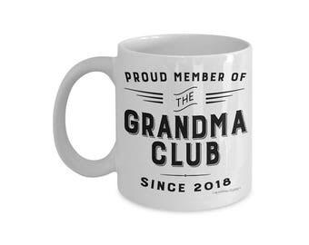 Grandma Club Coffee Mug, Grandma Gift, New Grandma Coffee Mug, Statement Mug, Grandma Mug, Pregnancy Reveal Mug, Grandma To Be Mug