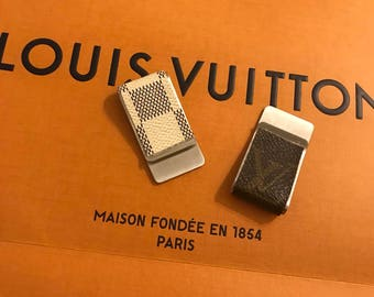 Authentic Louis Vuitton canvas money clip