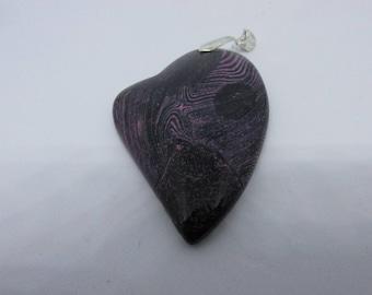 Pendant - Artsy Heart - Various Shades of Purple