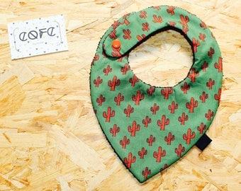 Cactus/pineapple/toucans baby bandana bib