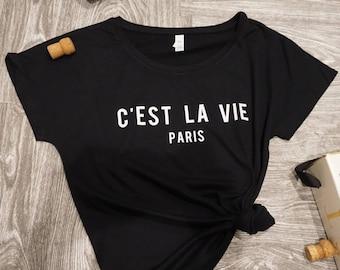 C'est La Vie Paris Shirt - womens