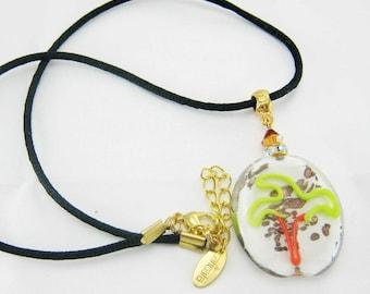 Lampwork - Palm tree pendant