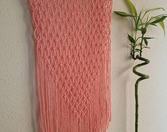Macrame Tapestry for the pink wall
