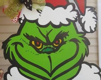Merry GRINCHmas door hanger . Ready to ship !