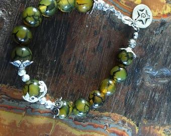 10 mm dragon vein Agate women bracelet