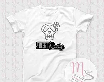 Sweet As Candy T Shirt,  Glitter, Skull, Girl, Female, Woman, Sweet, Girls, Angel,  TShirt, Top
