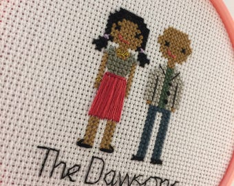 Custom Cross Stitch Couple Gift
