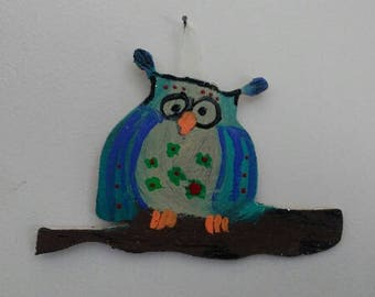 Folk Art Wall Owl