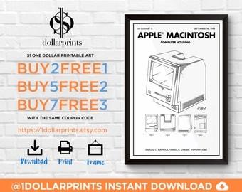 Apple Computer Patent • Machintosh Computer Poster • Apple Mac Downloadable Prints • Apple Computer Decor • Apple Computer Art Blueprint