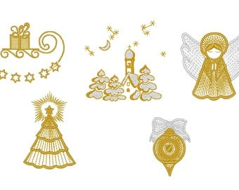 CHRISTMAS GOLD EMBROIDERY