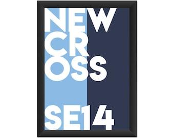 New Cross Typography Giclée Art Print
