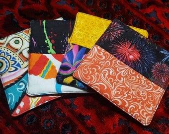 Patchwork mug rugs, mug rugs, coasters, patchwork coasters, coaster set, mug rug set, set of 4 coasters