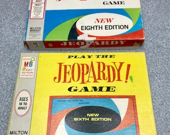 2 Vintage 1964 Jeopardy Games 6th Edition  & 8th Edition  from Milton  Bradley