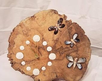 driftwood butterfly clock