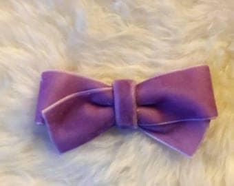 Lilac Velvet MISA Bow