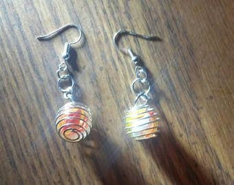 Peewee Cats Eye Marble Earrings