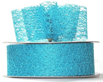 "Sky Blue Mesh Ribbon- 1.5"" x 20 yds"