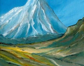 Mountains Original Acrylic Painting