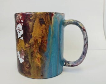 Hand painted marble mugs