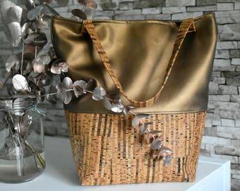 "Cork Bag ""Eve"", gold"