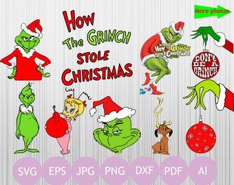 17  Grinch Clipart - (Svg, Eps, Dxf, Jpg, Png, Pdf, Ai)| Grinch Svg | Grinch Christmas | Christmas Svg |  Vectorial | Printable
