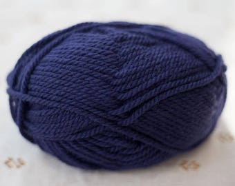 Merino Wool Alpaca Blend Yarn - Blue - Worsted