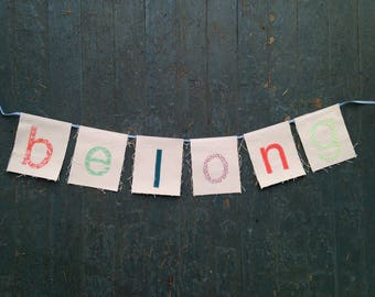 BELONG banner (Baby Gift Series)