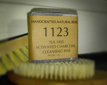 Tea Tree + Activated Charcoal Cleansing Bar