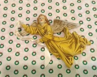 Vintage Wall Angel, Christmas, home Decor, upcycled