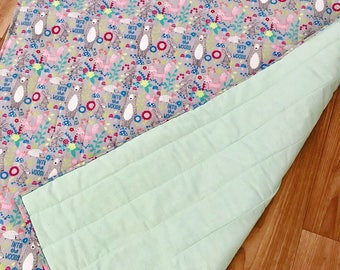 Quilted baby blanket - heirloom/keepsake