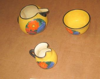 J Mrazel Ceramic pitchers and bowl  made in Czechoslovakia   [geo3575bt]