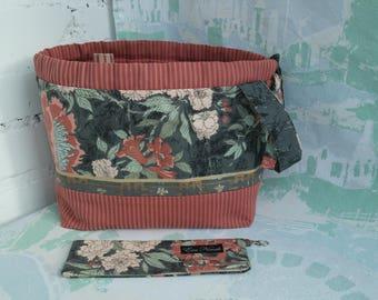 Storage knitting bag Knitting project bag DPN holder Drawstring knitting bag Knitting storage bag Crochet project bag Sock bag Knitters gift