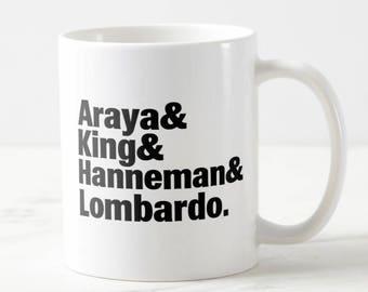 Band Lineup Mug - Slayer - Slayer Mug - Music Mug - Metal Mug - Gift for Her - Gift for Him - Birthday Gift