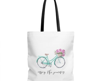 Enjoy The Journey Bicycle Tote Bag