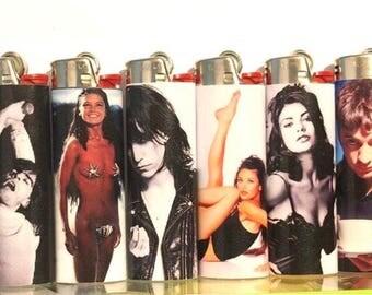Set Of FIVE (5) Handmade Custom BIC Lighters