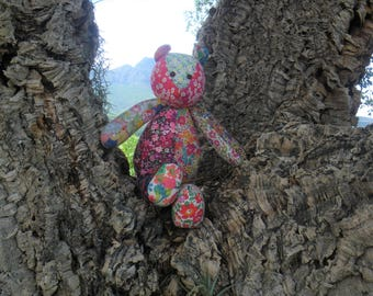 Handmade Liberty London print teddybear