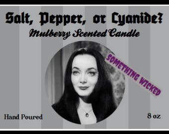 Morticia Addams Family Inspired Candle