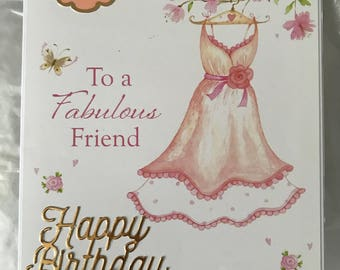 To a Fabulous Friend birthday card