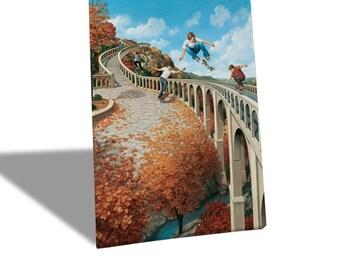 Canvas Canvas Prints-Rob Gonsalves-Big Air-Yellow BUS