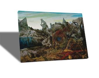 Canvas paintings Canvas-Max Ernst-Landscape-Yellow BUS
