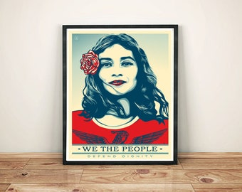 We The People Poster- We The People Print- Obey poster print- Feminist gift